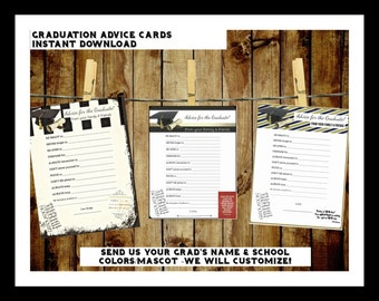 Graduation Advice Cards!! -Instant Download