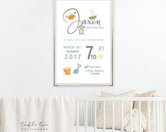 Art Print - Birth Poster, Life's At the Beach (W00025)
