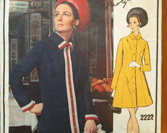 Vintage 1960s sewing pattern: Vogue Paris Original 2222 (Size 14)