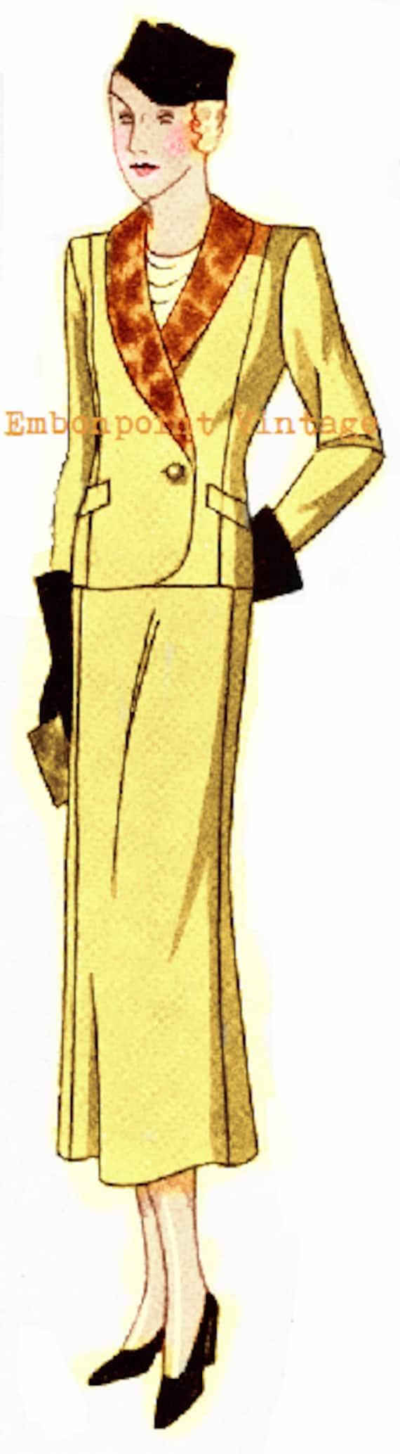 1930s House Dresses Plus Size (or any size) 1934 Vintage Suit Ensemble Sewing Pattern - PDF - Pattern No 76 Earnestine 1930s 30s Patterns Instant Download  AT vintagedancer.com