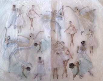 Decoupage Rice Paper Sheet, Big Decoupage rice paper, Decoupage Ballerinas, Ballet,Ballet dancer, tutu, 32x27cm