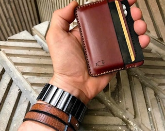 Leather cardholder VITO