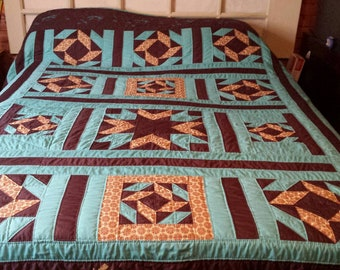 Hand quilted King size quilt