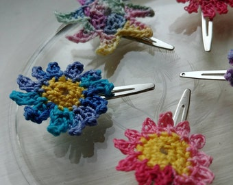 Flower and Star Hair Clips