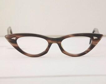 Cat eye 1950s Eyeglasses / Ward Romy USA