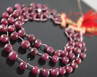 1/2 strand Spectacular ruby tear drops  - WHOLESALE PRICES 20.00