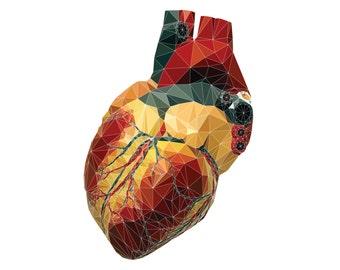 Digital High-Poly Heart
