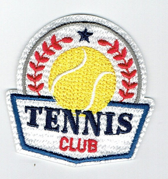 """Patch fusible trendy """"tennis"""" pattern"""