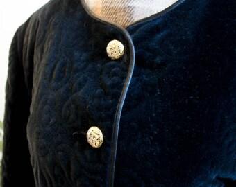 Thick velvet 1950 jacket