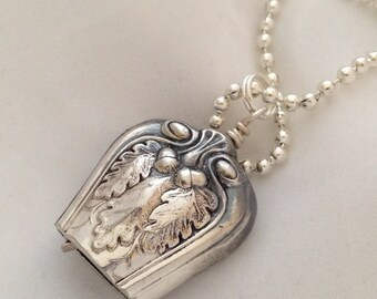 Knife Bell Pendant Lakewood 1914 Silverware Jewelry Vintage Silverplate Knife