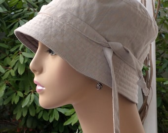 Women's Chemo Hats Soft Organic Cotton Cancer Caps Made in the USA Reversible Small-Medium