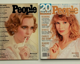 People Weekly Magazine, 1974 Issue #1 and 1994 20th Anniversary Issue, Mia Farrow