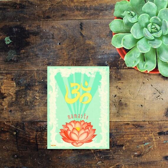 Namaste Sticker Decal - Car Window Decal - Laptop Sticker - Om Hippie Sticker - Zen Sticker - Yoga - Adventure Sticker - Hippie