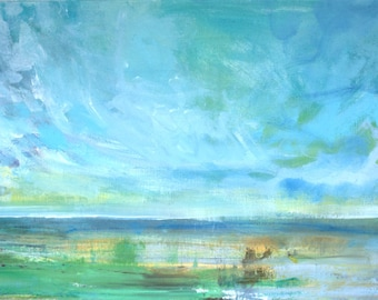 In the Afternoon Coastal Landscape Impressionist Painting (Part 2) -- Fine Art Print