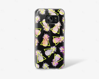 Pineapple iPhone 7 Case Clear iPhone 8 Case Clear iPhone 7 Plus Case iPhone 6S Plus Case iPhone X Case Samsung Galaxy S8 Case