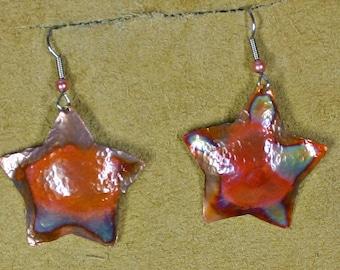 Star earring copper