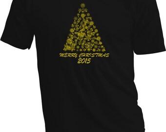 Christmas T Shirt – Gold & black