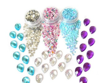 Unicorn Shine Party Glitters And Face Jewels Gemstones Set For Face & Body | Festival And Party | Beauty Makeup Accessories Holiday Birthday