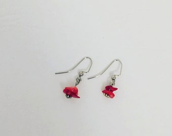 Red Coral Chip earrings