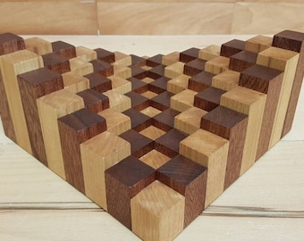 Wooden chess board 3d-Wood chess table 3d