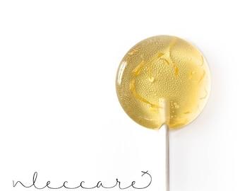 Flower Lollipops // Marigold Lollipops // Yellow Favors // Spring Wedding Favor // Lemon Lollipops // Leccare Lollipops // 6 count