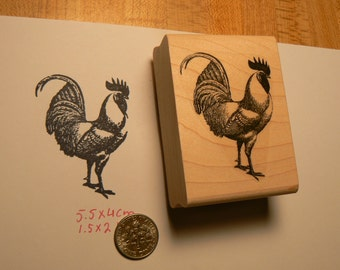 Rooster rubber stamp P47