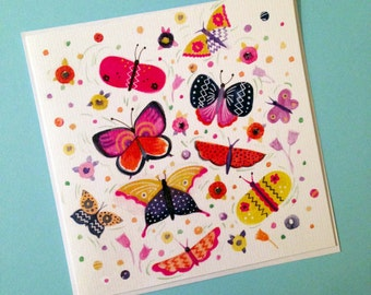 Square Greetings Card - Butterflies