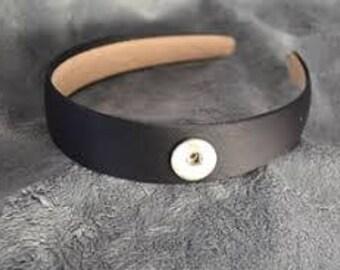 Snap button headband