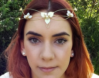 Elven Wedding Circlet Tiara Crown ~ Woodland Triquetra in custom colors