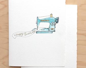 Happy Birthday Vintage Sewing Machine