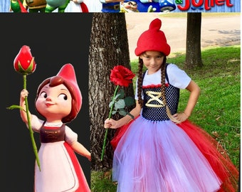 Juliet Gnome costume tutu dress, in No way affiliated with any Gnomeo and Juliet products or designs