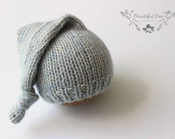Knitting Pattern - Sleepy Stocking Hat - Newborn Photography Prop