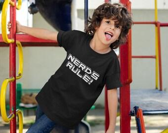 Nerds Rule, Funny Nerd Kids Shirt, Nerd Lover Kid Shirt, Gift for Kids, Kids Shirt
