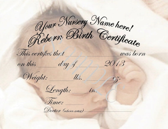 Charming Reborn Birth Certificates Your Custom Nursery Name 5