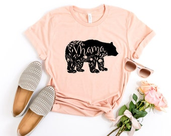 Mama Bear Shirt, Floral Mama Bear Shirt, Pregnancy Reveal Shirt, Mom Shirt, Mother's Day Gift, Baby Shower Gift for Mom