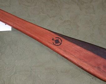Macassar Ebony Miss Rose Spanking Paddle Exotic & RARE Hardwood Wood - Flare or Taffy Paddle ME074