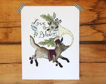 Love Blooms Print