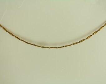 Antique Rose Gold Filled Watch Chain Necklace Bracelet Repurpose Embossed Link Unique Design(ET459 )