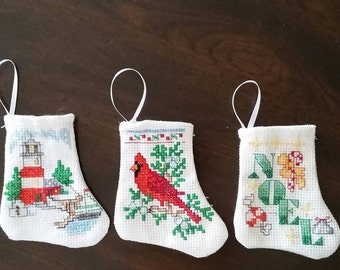 Mini Christmas Stockings Set of Three  ( Choice  H )