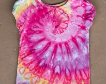 Tie Dye Shirt | 3T Shirt, 3T Tie Dye Shirt, 3T Girls Tie Dye, Gifts for Girls, Toddler Gift Idea, Hand Dyed, Camping Shirt, Kids Tie Dye