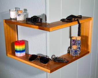 Corner Shelf - Shelf - Floating Shelf - Corner Shelves - Shelves - Floating Shelves - Bathroom Shelf - Wall Shelf - Wooden Shelf - Corner
