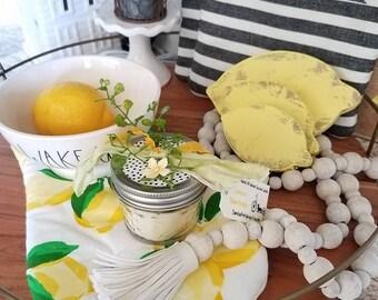 Lemon Shortbread // All Natural Soy Wax Warmer Tarts // Soy Melt/ Candle/ Wedding Favors/ Gifts