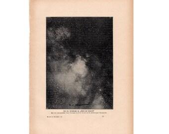 1900 ANTIQUE MILKY WAY print original antique celestial astronomy lithograph