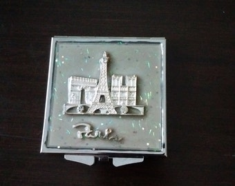 Small Parisian Mirror Compact, Compact for Purse