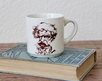 Mark Twain - Mark Twain Mug - Mark Twain Cup - Caricature Mug - Vintage Mark Twain Mug - Vintage Mark Twain - Writers Mug - Huckleberry Finn