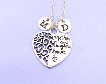 Mother gift, Gift for mom from daughter, mother daughter forever, Personalized mom Gift, Mothers day necklace, unique mum gift, mom pendant