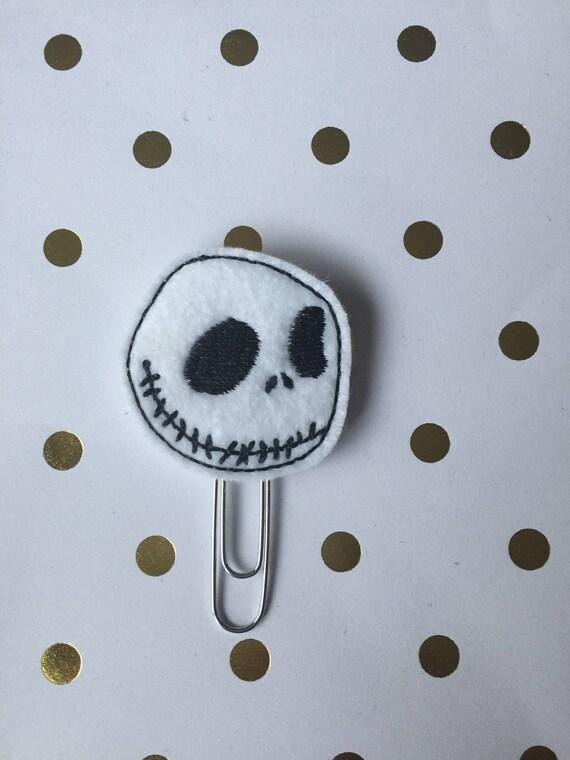 Jack Skull Paper Clip/Planner Clip. Halloween Planner Clip. Fall Planner Clip