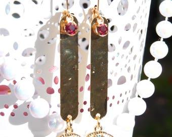 FREE SHIPPING Eye Handmade Dangle Earrings - Eyeball Jewelry - Gift Ideas - Swarovski Earrings - Swarovski Jewelry - Holiday Earrings