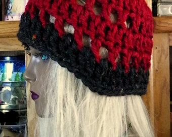 Red Black Soft Cloche Hat Or Choose Your Color