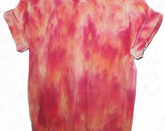 Fire Red/Orange Tie Dye T-shirt